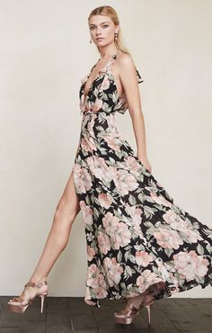 Flowing floral maxi