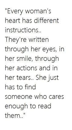 Every woman's heart