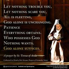 A Prayer by St. Terese of Avila