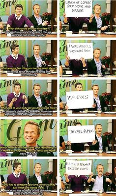 I love Neil Patricks Harris' face in the last picture, this is the most adorable thing ever!!!