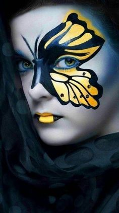Extreme eye makeup. Fantasy face makeup. Amazing lip designs. All very inspiring… #fantasymakeup