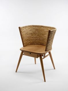 contemporary Orkney chair made by Dalston based furniture maker Gareth Neal, and traditional Orkney chair maker Kevin Gauld. Rattan Furniture, Design Furniture, Chair Design, Rattan Chairs, Low Chair, Chair Pictures, Take A Seat, Occasional Chairs, Outdoor Chairs