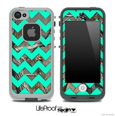 Want this for my iPhone 5!  camo-trendy-green-chevron-print-skin-for   wish i had an i phone