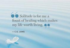 Solitude ... C.G. Jung