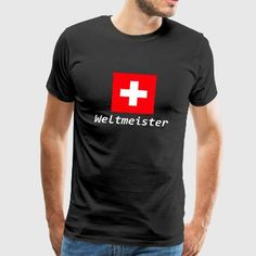 Schweiz Weltmeister - Männer Premium T-Shirt Trends, Mens Tops, Art, Fashion, Road Racer Bike, Switzerland, Art Background, Moda, Fashion Styles