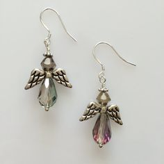Earrings Angels made with love xx by CharmingDeva on Etsy Angel Earrings, Drop Earrings, Inspired By Charm, Jewelry Design, Unique Jewelry, Angels, Trending Outfits, Handmade Gifts, Inspiration