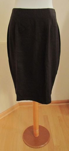 New Eileen Fisher Ponte Knit Pencil Skirt S Dark Brown stretch Viscose Straight #EileenFisher #StraightPencil #Ponteknit