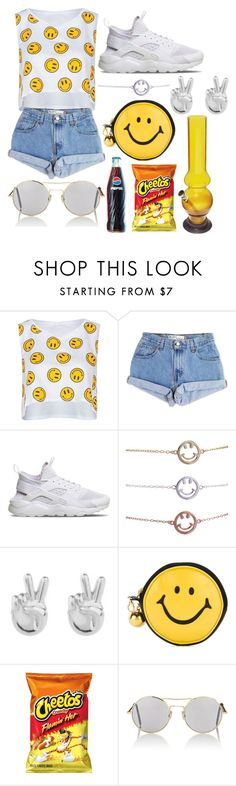 """just chill"" by walkeralexzandreia ❤ liked on Polyvore featuring Full Tilt, Levi's, NIKE, Rock 'N Rose, Moschino and Illesteva"