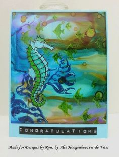 DesignsbyRyn.com stamps, Stazon Inks and Alcohol Inks, card made by Alie Hoogenboezem-de Vries