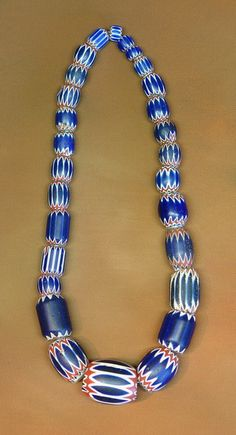 *Lovely example of a strand of Chevron beads - highly collectible Trade Beads