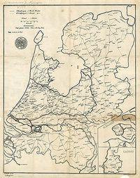 In 1884 publiceerde de ANWB haar eerste wegenkaart voor fietsers. De kaart was getekend door de eerste voorzitter van de ANWB, de Engelsman C.H. Bingham Old Maps, Antique Maps, Early World Maps, Holland Map, Hellenistic Period, Classical Antiquity, Utrecht, Prehistoric, Netherlands