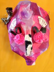 Recycled materials make for exciting art possibilities! Fifth graders used plastic milk jugs to create masks inspired by those o. Recycled Art, Recycled Materials, Diy Crafts For Kids, Art For Kids, Plastic Milk, Art Lessons, Baby Car Seats, Recycling, Projects To Try