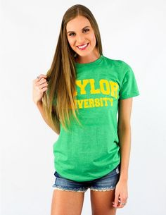 b8b88b40aa6 Baylor University is coming in clutch with this go-to tee!b Heather Green