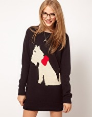 Scotty Dog Jumper Dress
