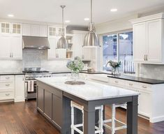 Supreme Kitchen Remodeling Choosing Your New Kitchen Countertops Ideas. Mind Blowing Kitchen Remodeling Choosing Your New Kitchen Countertops Ideas. Kitchen Tops, New Kitchen, Country Kitchen, Smart Kitchen, Awesome Kitchen, Rustic Kitchen, Kitchen Dining, Aqua Kitchen, Gray And White Kitchen