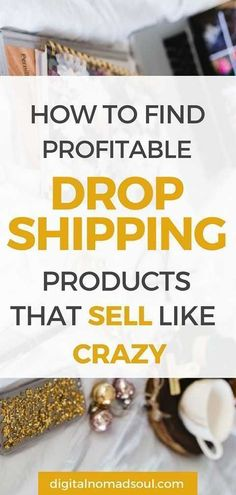 How to Find Profitable Dropshipping Products to Sell Online Digital Nomad Soul - Shopify Website Builder - Build the Shopify Ecommerce site within 30 minutes. - How to find profitable dropshipping products that sell like crazy. Make Money From Home, Way To Make Money, Ecommerce, Dropshipping Suppliers, Drop Shipping Business, Startup, Starting Your Own Business, Digital Nomad, Digital Media