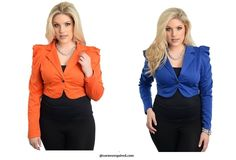 Womens Plus Size Long Sleeve Shrug Bolero Coat Crop Jacket Blazer 1X 2X 3X #Unbranded #BoleroShrugcroppedjacketcoatblazertop