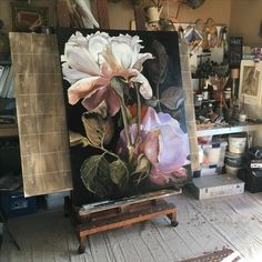 Jacqueline Coates took her passion for painting huge, luscious flowers into an amazing business and lifestyle - inspirational! Acrylic Flowers, Oil Painting Flowers, Watercolor Flowers, Floral Paintings, Silk Painting, Arte Floral, Botanical Art, Painting Inspiration, Amazing Art