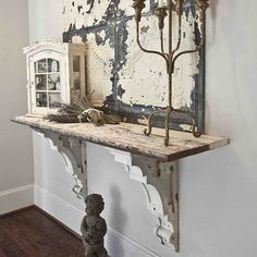 Shelf in my house made with antique corbels #frenchaccents #vintage