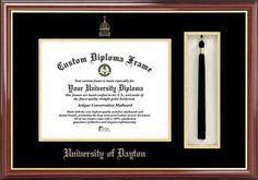 University of Dayton Flyers Diploma Frame and Tassel Box