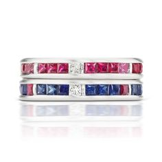 What better way to #celebrate our nation's #birthday than with these #stunning #rings by a #designer with the same birthday @janetaylorjewelry #red #white #blue #redwhiteandblue #fun #fireworks bang #jewelry #talented #fourthofjuly #1776