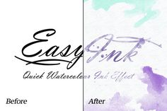 Watercolor - EasyInk - Quick Ink Efx by caiocall on @creativework247
