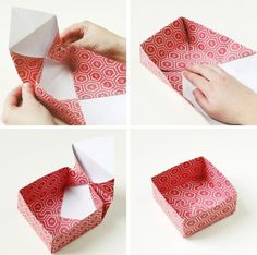 Caixinha de Origami Fácil de Fazer Passo a Passo                              …