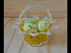 3D Beaded Easter Basket Tutorial ( Preview ) - YouTube