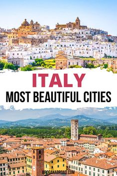 The Most Beautiful Cities in Italy | Prettiest Cities in Italy | Travel Tips for Italy | Where to go in Italy | Best places to visit in Italy | Beautiful places in Italy | Bucket list locations in Italy #italy #travel