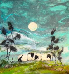 Cheviot Moon Painting by Moy Mackay