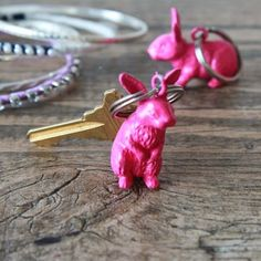 With these little bunnies holding your keys, you'll be able to spot them from across the room next time they wander off!