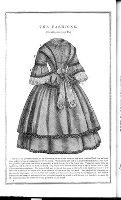 1857 January. Godey's Lady's Book Fashion: Patterns. More fashion plates and pattern images at the link.