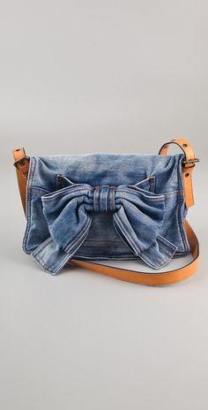 RED Valentino Denim Bow Bag