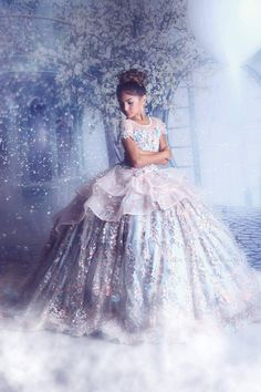 Blue and pink princess pageant dress, light blue extravagant couture ball gown - pageant dresses Pagent Dresses For Kids, Little Girl Pageant Dresses, Gowns For Girls, Girls Dresses, Little Girl Gowns, Girls Party Dress, Pretty Dresses For Kids, Kids Flower Girl Dresses, Pageant Girls