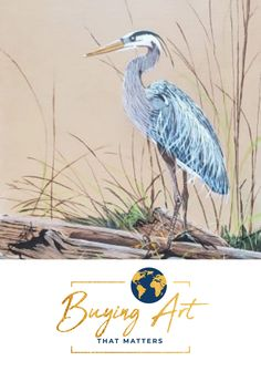 11x14 acrylic on canvas wrap. Buying Art That Matters has the privilege  of selling this realistic painting of a Heron from Shirley Rush's -Visions by  Shirl- body of work that she left behind. Become part of her legacy by  supporting our mission to fund inspiring Christian Mission organizations  that are helping to create a more faith-filled and stronger world. #artforsale #realisticart #natureart #birdart #artwithmeaning Realistic Paintings, Acrylic Paintings, Art With Meaning, Modern Portraits, Realism Art, Christian Art, Heron, Bird Art, Organizations