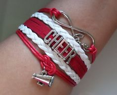 Cheer bracelet Cheerleader bracelet Cheerleading by SummerWishes