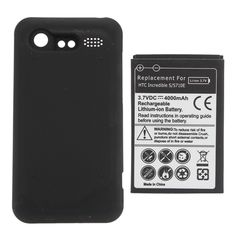 4000mAh Extended Battery + Cover Case For HTC S710e Incredible S G11