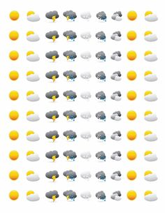 Weather Free Planner Stickers