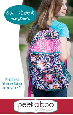 Star Student Backpack - Peek-a-Boo Pattern Shop $7.95