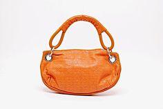 02862048cd Emporio Armani GIORGIO ARMANI Softest Orange Leather Pochette 11 x 6.5   GiorgioArmani  ShoulderBag Emporio
