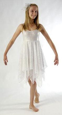 Stunning Sparkle White Lyrical Dress Dance Costume CM 2