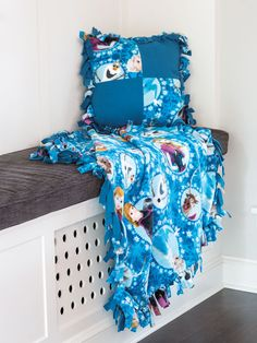 These no-sew fleece blankets appeal to all ages. They are great for taking to football games, snuggle under while watching TV, or to cuddle up with in a college dorm room. Everyone you know will want one!