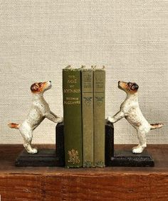 Cast Iron Jack Russel Bookends