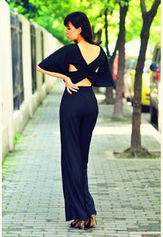 759535e0885b red  black party dating work sexy backless vintage jumpsuit After Prom  Outfit