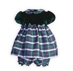 Plaid Perfection Newborn Girls' Float Dress with Panty