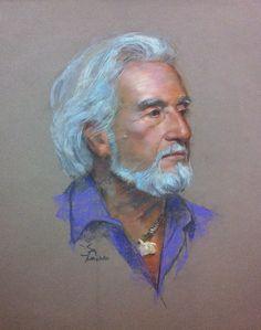George 12 x 16 pastel