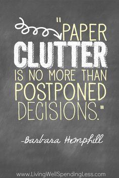 Clutter - Barbara Hemphill
