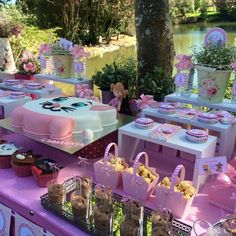 Cake and cupcakes at an  Aristocats birthday party! See more party ideas at CatchMyParty.com!
