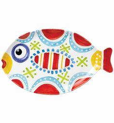 VIETRI - Fish-Fish Large Fish-Shaped Platter