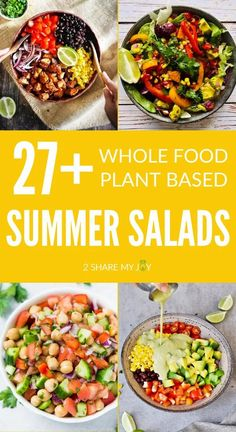 Summer Salad Recipes, Summer Salads, Whole Food Recipes, Vegan Recipes, Plant Based, Easy, Plants, Flora, Plant